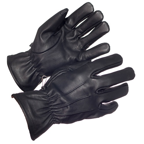 LINED LEATHER UNIFORM GLOVE BLACK SIZE 8